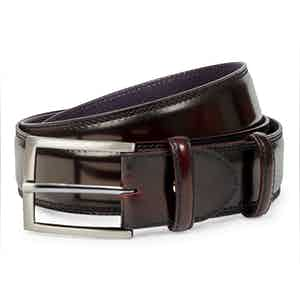 Burnished Wine Leather Belt