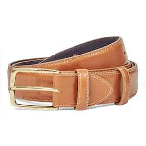 Tan Polished Leather Belt
