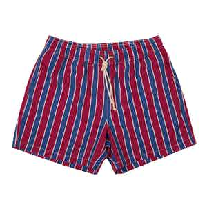 Red Monterosso-Print Swim Shorts