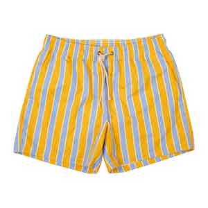 Yellow Monterosso-Print Swim Shorts
