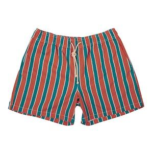 Orange Monterosso-Print Swim Shorts