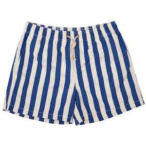 Blue Paraggi-Print Swim Shorts