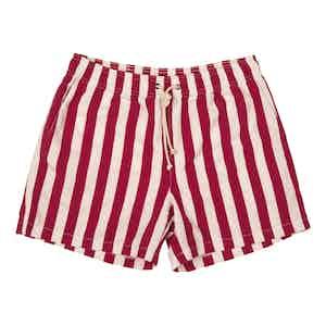 Red Paraggi-Print Swim Shorts