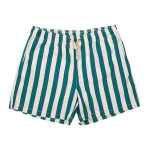 Green Paraggi-Print Swim Shorts