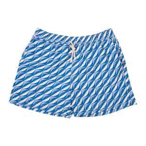 Blue Sorrento-Print Swim Shorts