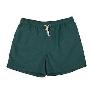 Green Brushed-Canvas Swim Shorts