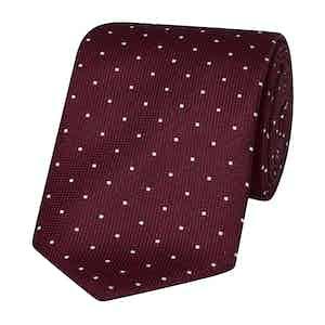 Red Polka Dot Silk Tie