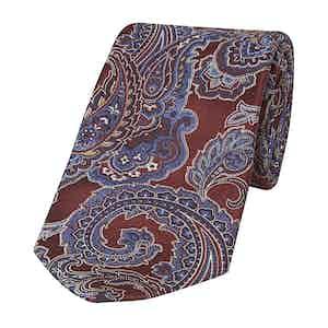 Red Jacquard Paisley Tie