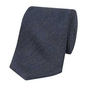 Blue Wool and Silk Tie