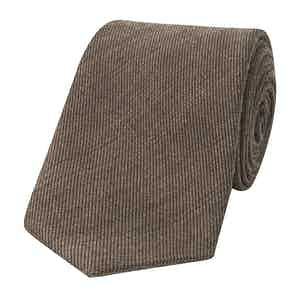 Brown Wool and Silk Tie