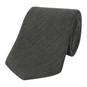 Green Wool and Silk Tie