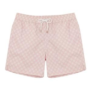 Pink and Ecru Floral Swim Shorts