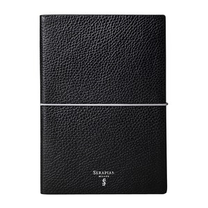 Black Cachemire Calf Leather A5 Notebook