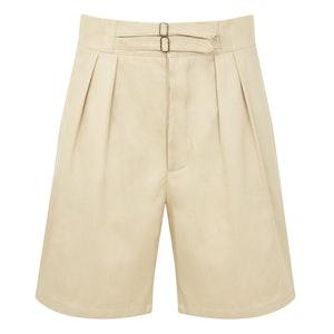 Ecru Cotton SOII Safari Shorts