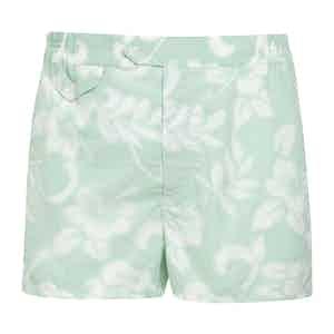 Green Aqua Swim Shorts
