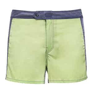 Green Contrast Swim Shorts