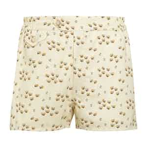 Yellow Swim Shorts with Bee Print