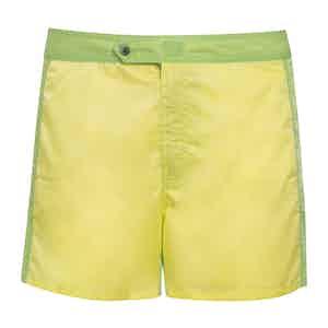 Yellow and Green Shell Swim Shorts