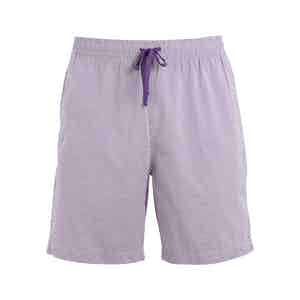 Purple Striped Shell Swim Shorts