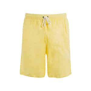Yellow Linen Swim Shorts