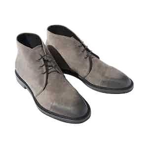 Benton Grey Suede Chukka Boots