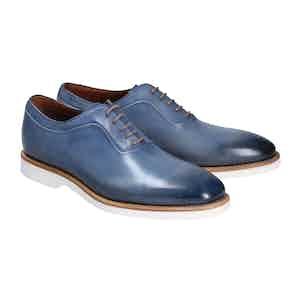Blue Calf Leather Francesca Favignana Oxfords