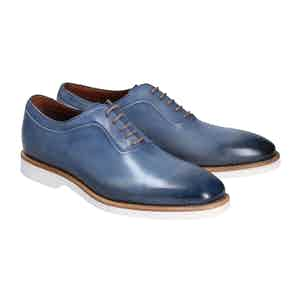 Blue Calf Leather Francesca Favignana Oxfords