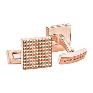 Rose Gold Paris Square Cufflinks