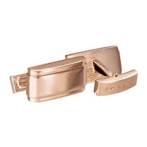 Rose Gold-Plated Rectangle Cufflinks