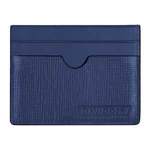 Blue Embossed Leather Crossroads Card Holder