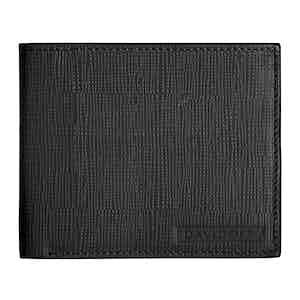 Black Embossed Leather Crossroads Six-Card Wallet