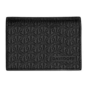 Black Embossed-Leather Zino Double-Card Wallet