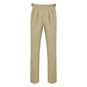 Neutral Linen Manny Trousers