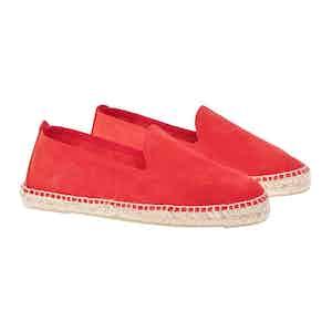 Red Suede Hamptons Espadrilles