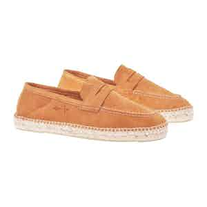 Tan Suede Hamptons Loafers