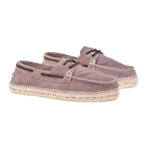 Grey Suede Hamptons Boat Shoes