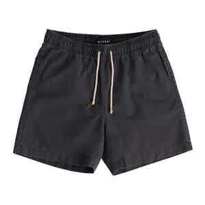 Deep Blue-Striped Hamptons Swim Shorts