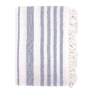 Blue Striped Cotton Beach Towel