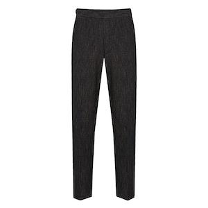 Dark Blue Cotton Jeans-Textured Dark Blue Trousers