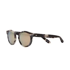 Tortoiseshell Mirrored Sunglasses with Gold Lenses