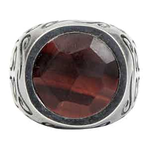 Sterling Silver Ring with Red Tigereye