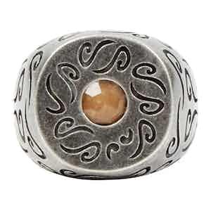 Sterling Silver Ring with Orange Aventurine