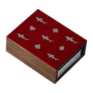 Red Walnut Card Shark Card-Sleeve