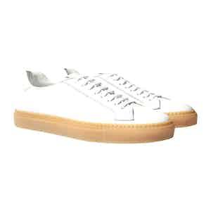 White Calfskin Ugo Beige Edit Sneakers