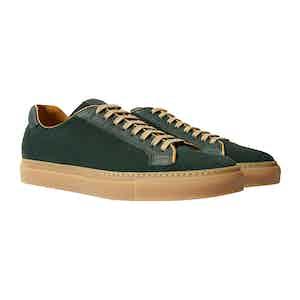Green Calfskin Ugo Verdone Scamosciato Sneakers