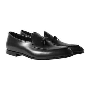 Black Leather Henri Loafers