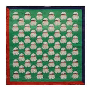 Green Cotton-Silk Bjorn Borg-Print Pocket Square