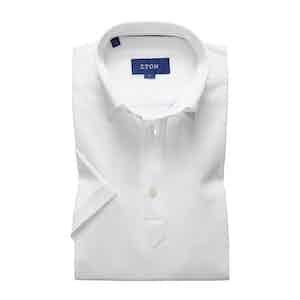 White Polo Short Sleeve Popover Shirt