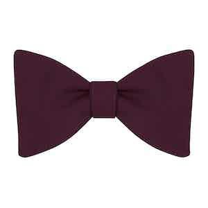 Burgundy Plain Silk Bow Tie