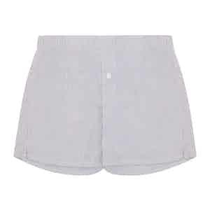 Navy Striped Boxer Shorts